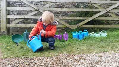 Watering cans - Devon cottage holidays