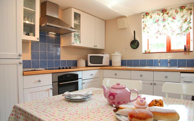 Bryony-Cottage kitchen - farm cottages devon