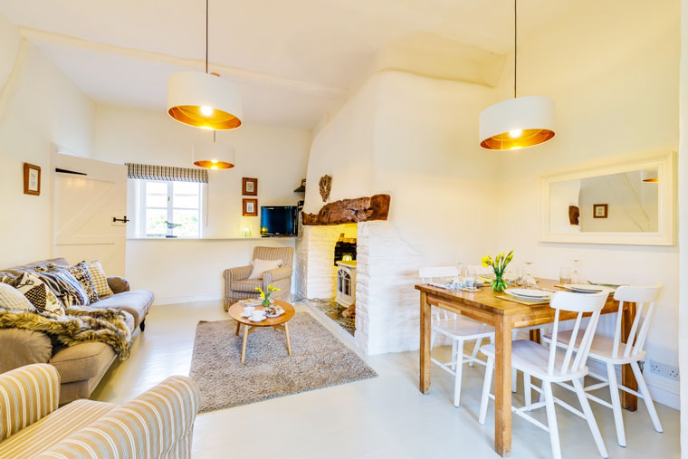 Hazel Cottage living space | Birchill Farm Cottages | Devon
