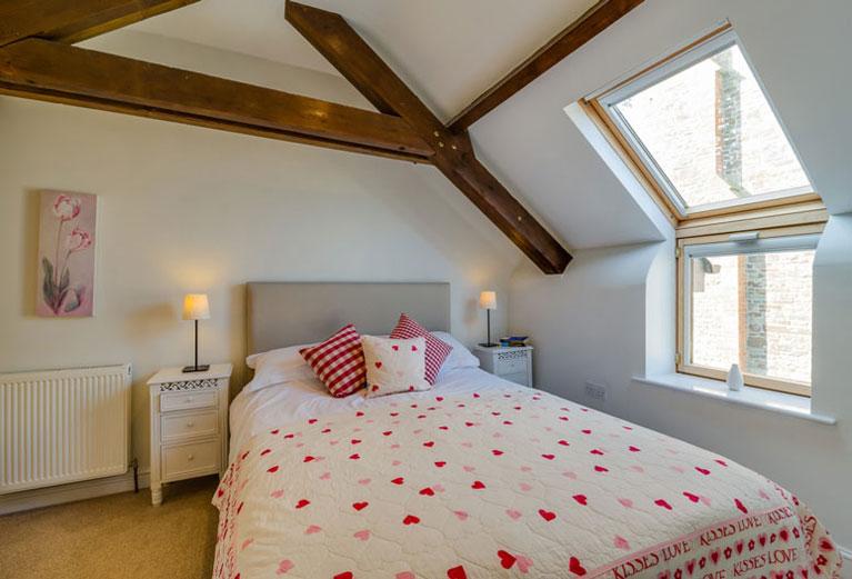 Bramble Cottage master bedroom | Birchill Farm Cottages | Devon